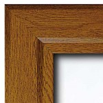 Lockable Poster Case - Oak